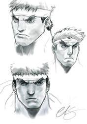 Ryu Street fighter sketch by sanyaca