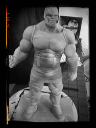 Darkseid sculpture WIP by sanyaca