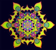 'Lotus Fire' UV Backdrop by Trancestor