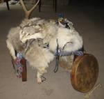 Grey wolf ritual altar 1 by lupagreenwolf