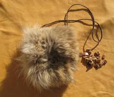 Wolf bone rune set fur pouch by lupagreenwolf