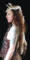 Black-backed Jackal Headdress by lupagreenwolf