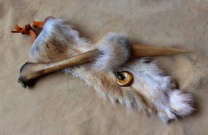 Wolf Bone and Fur Ritual Knife by lupagreenwolf