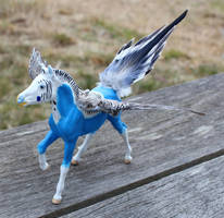 Breyer Ponykeet Custom Pegasus by lupagreenwolf