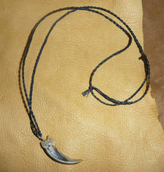 Badger Claw Necklace by lupagreenwolf