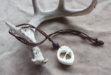 Goat Bone Necklace by lupagreenwolf