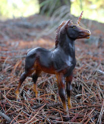 Ember - Custom Breyer Unicorn by lupagreenwolf