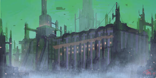 Sci-fi factory by timhedlund