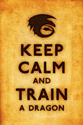 Keep Calm and Train a Dragon by kingpin1055