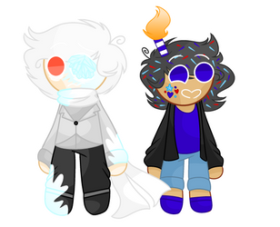 Snow spirit cookie And Funfetti cookie by FlickerFlameh