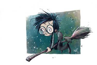 Harry on his Nimbus by basschel