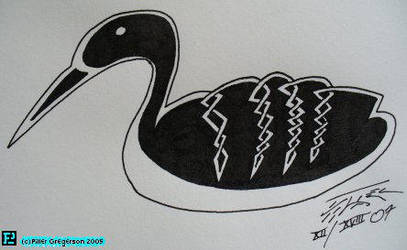 Celtic Knot, Loon by Faux-Pseudo