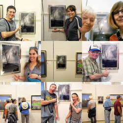 Friends, family, strangers with my photo at the Fa by sequential