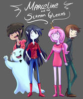 Adventure Time - Marceline and the S.Queens by kei111