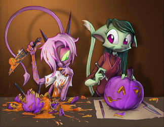 Pumpkin Carving Frenzy by Dreamkeepers