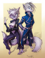 Shadow and Whiterush by Dreamkeepers
