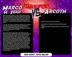 Tournament Match 23: Marco vs Arcoth by Dreamkeepers