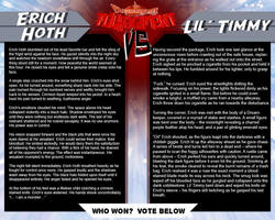 Tournament Match 34: Eric Hoth vs Lil' Timmy by Dreamkeepers