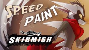 SpeedPaint- Bast SKIRMISH card Side 1 by Dreamkeepers