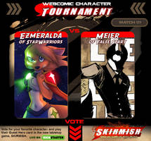 Webcomic Character Tournament Match 01 by Dreamkeepers