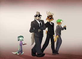 Secret Service Guards by Dreamkeepers