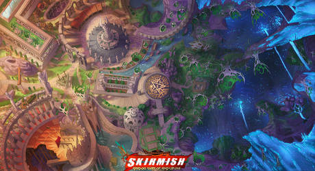 SKIRMISH Playmat sample by Dreamkeepers