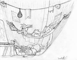 Plush Kickstarter Sketch- Vi Studying by Dreamkeepers