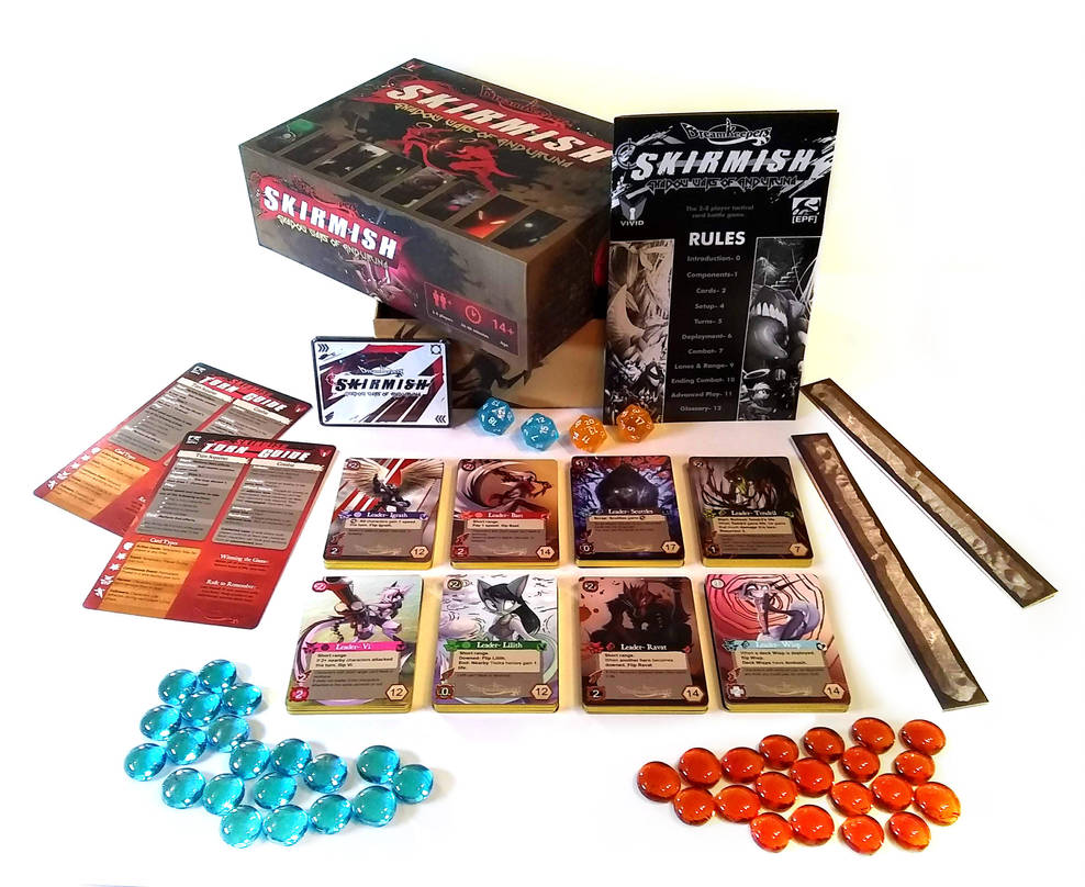 Skirmish Deluxe Box Contents by Dreamkeepers