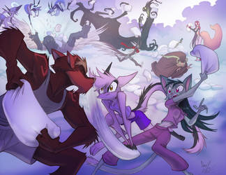 Skirmish Mob Rule Pillow Fight by Dreamkeepers