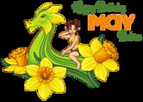 Daffodil Dragon by phoenix1784