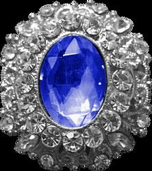 Silver Pendant - Sapphire by Dori-Stock