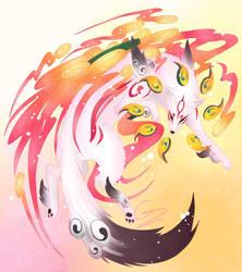 Okami Amaterasu by GlitchedZoro