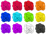 Rainbow Of Roses by LadyGlitch