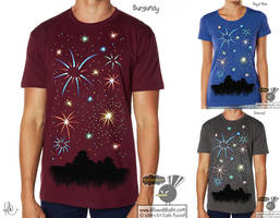 Fireworks T-Shirt by KilowattKatie