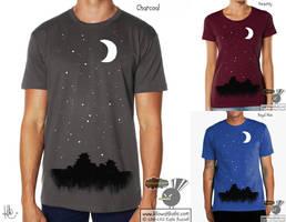 Japanese Moon T-Shirt by KilowattKatie