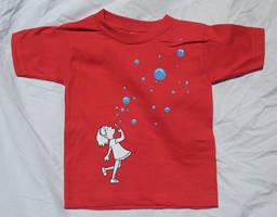 Bubbles - Toddler's tee by KilowattKatie