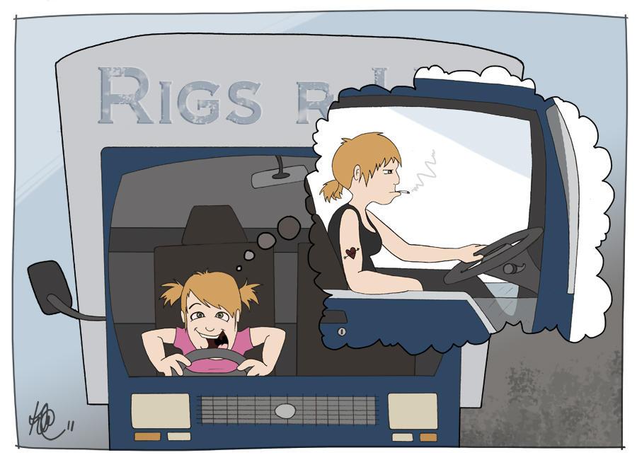 Truckie Dreams by KilowattKatie