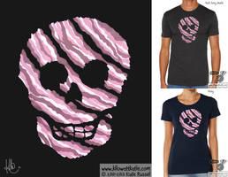Bacon Skull T-Shirt by KilowattKatie