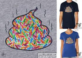 Unicorn Poo T-Shirt by KilowattKatie