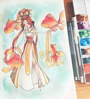 Queen Goldfish by RhapsodyTales
