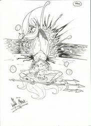 Warrior disney princess Ariel by SilverWingsSatSu
