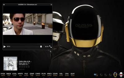 Daft Punk Desktop for Ubuntu by VinoFuriaRoja