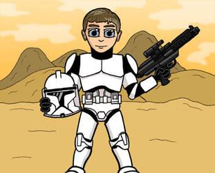 My Nephew as a Clone Trooper by stutheninja