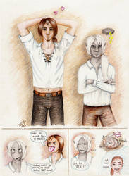 Mortifer and Foebus by elilith666