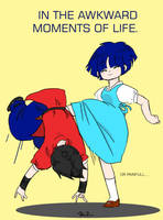 Painfull Moments- Akane+Ranma by Soupockie