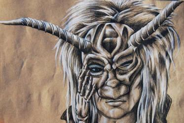Jareth with mask by aleast-angel