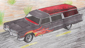 Hot Rod Hearse by Mr-Pink-Rose