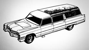 Hot Rod Hearse - Lineart by Mr-Pink-Rose