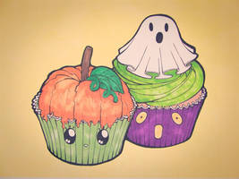 Halloween Cupcakes by Mr-Pink-Rose