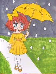 Rainy Day Girl...Again by Mr-Pink-Rose